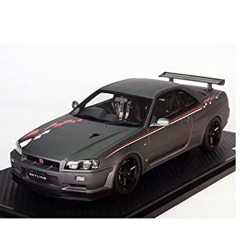 <title>ついに入荷 中古 イグニッションモデル 1 18 日産 スカイライン GT-R VスペックII R34 マッドグレー</title>
