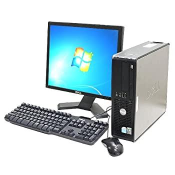中古 返品交換不可 Win7搭載 デスクトップパソコン DELL Optiplex745SFF Core2Duo 2GB DVDマルチ MicrosoftOffice2007 高価値 17インチ液晶セット 160GB