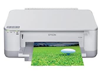 至高 中古 EPSON Colorio インクジェットプリンター PX-203 発売モデル 前面給紙カセット 無線LAN標準搭載 4色顔料インク 自動両面印刷標準 有線