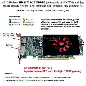 記念日 中古 AMD Radeon HD 8570 1GB GDDR3 SFF ノーマルサイズ コンピュータ コンピューター ファクトリーアウトレット スリム ロープロファイルブラケット 4K