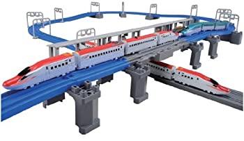 中古 保証 プラレール 新品未使用 アドバンス E6系新幹線 連結立体交差レールセット