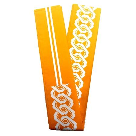 祭り用品 あす楽 半纏帯 人気上昇中 大人吉原 長尺 260cm×8cm 黄色 ●日本正規品●