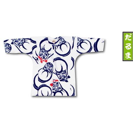 子供 用 鯉口 シャツ 子供用 江戸一 【手拭】だるま 子供用鯉口シャツ(0号~3号)