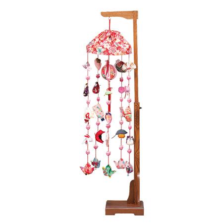 つるし雛 つるし飾り 吊るし【お節句飾】【お祝い飾り】 花もも 伸縮式スタンド付  高125cm