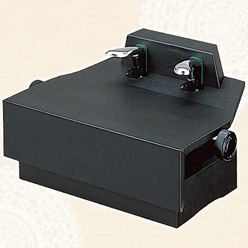 ピアノ補助ペダル(ネジ式高低両ハンドルタイプ)AX-100ブラック【メーカー直送】【メール便不可】