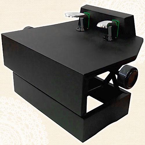 ピアノ補助ペダル(ネジ式高低両ハンドルタイプ)P-33ブラック【メーカー直送】【メール便不可】