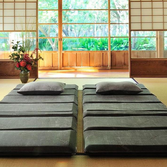 テンピュール フトン Futon Deluxe [フトンデラックス] 最高の睡眠をお約束できる寝具です。床に敷いてテンピュールの寝ごこちを 三つ折ふとんタイプ 5年保証 素材の寝ごこちやサポートを感じられる、3分割された折りたたみやすいデザイン。