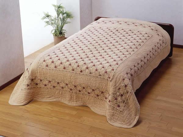 最低価格の □ラの刺繍のウォッシュキルトカバー長方形190センチ×240センチ, みの焼 みの吉 b0f2f81d