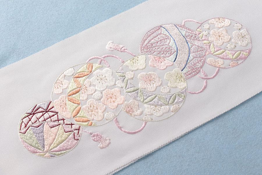 【Max5000円オフクーポン!】衿秀 毬の重ね刺繍半衿 手刺繍