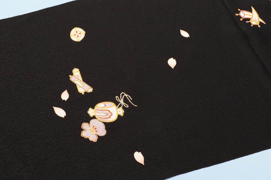 【ゴールデンウィーク10%off】帯揚げ 宝尽くし 正絹 フォーマル 礼装 礼装用 おしゃれ カジュアル 小紋 コーディネート 訪問着 付け下げ