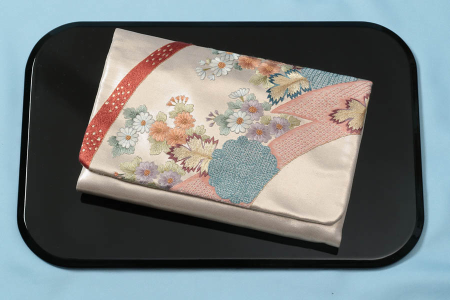 【ゴールデンウィーク10%off】茶道具 数寄屋袋 バックinバック  西陣織 刺繍入り