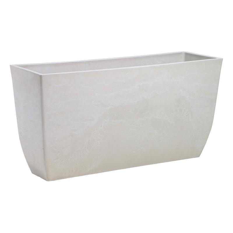 ストーンプラスチックウッド 角型ロング エコプランターL ホワイトストーン 150-016W