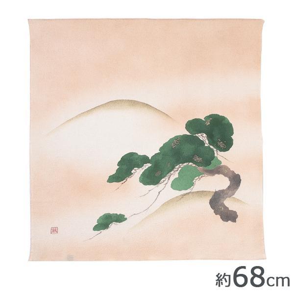山田繊維 むす美 風呂敷(ふろしき) 二巾9号 正絹ちりめん友禅 松 クリーム 30627-933