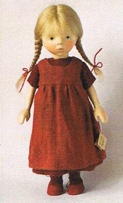 【受注発注商品】ポングラッツ人形・オールウッド・女の子H312(PONGRATZ)抱き人形・木製