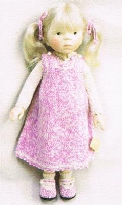 【受注発注商品】ポングラッツ人形・オールウッド・女の子H295(PONGRATZ)抱き人形・木製