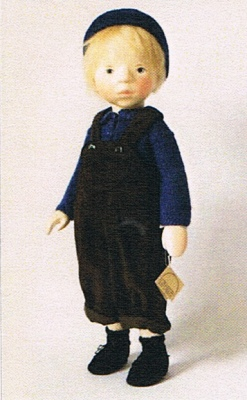 ポングラッツ人形・オールウッド・男の子H313(PONGRATZ)抱き人形・木製