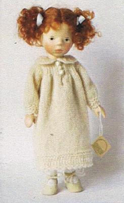 ポングラッツ人形・オールウッド・小・女の子DJ031(PONGRATZ)抱き人形・木製