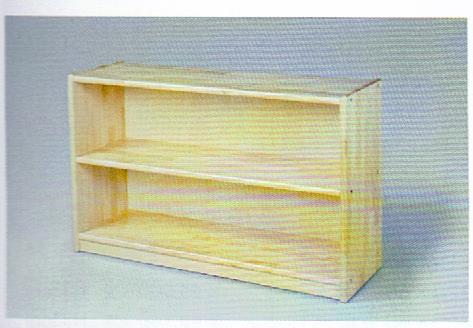 白木棚<小>背板付 組立式