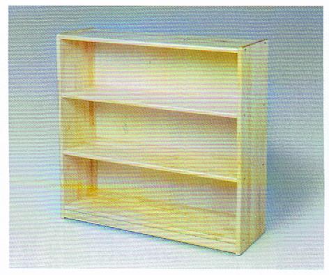 白木棚<大>背板付 組立式