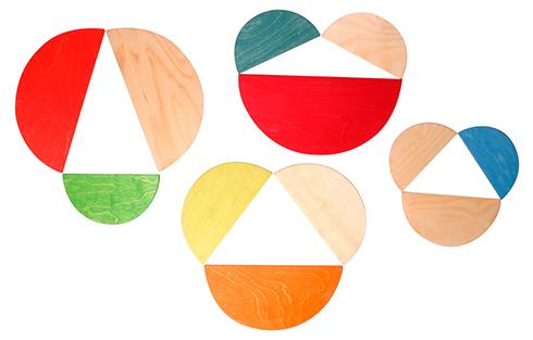 積み木グリムス・半円盤・ナチュラル(LargeSemicircles,Natural,11pieces)【送料無料】木のおもちゃラッピング無料出産祝い2歳3歳4歳おもちゃ