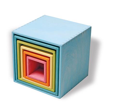 【送料無料】グリムス・箱積木・パステルLargeSetofBoxs,pastel