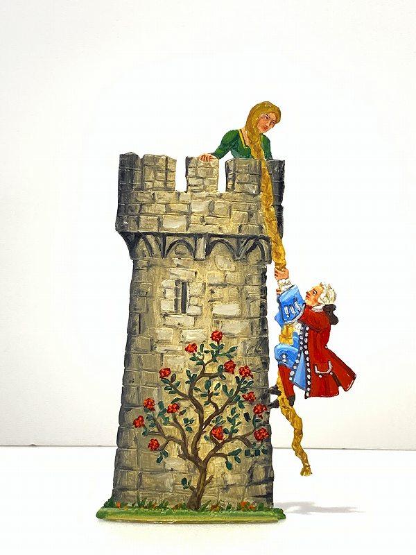錫 飾り スタンド ラプンツェル Wilhelm Schweizer ウィルヘルム・シュヴァイツアー ドイツ製