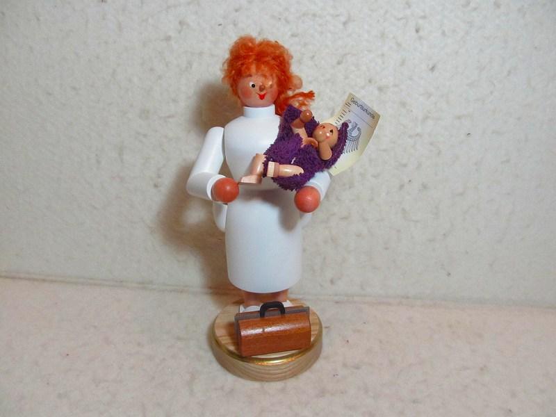 【即日発送可能】煙だし人形・助産師さん お香立て ザイフェン エルツ エルツのおもちゃ