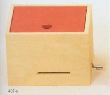 ミュージックBOX(大)・手回しオルゴール・赤