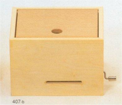 ミュージックBOX(大)・手回しオルゴール・白木