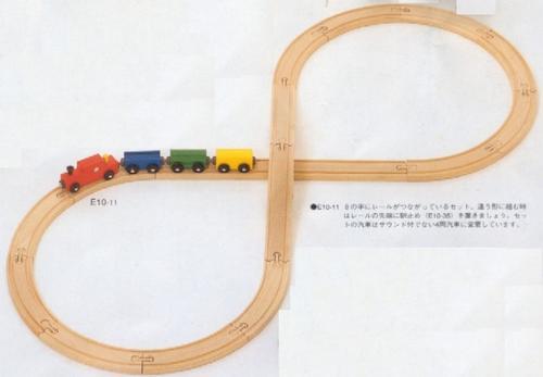 MICKI・汽車・8の字セット(ミッキィ社)ご出産祝いに人気!【送料無料】