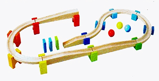 知育玩具 ベビークーゲルバーン・大【送料無料】積み木 玉の道 お誕生日HABA社