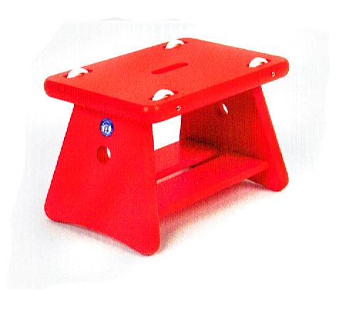ローラー椅子・赤 ユシラ社(フィンランド)