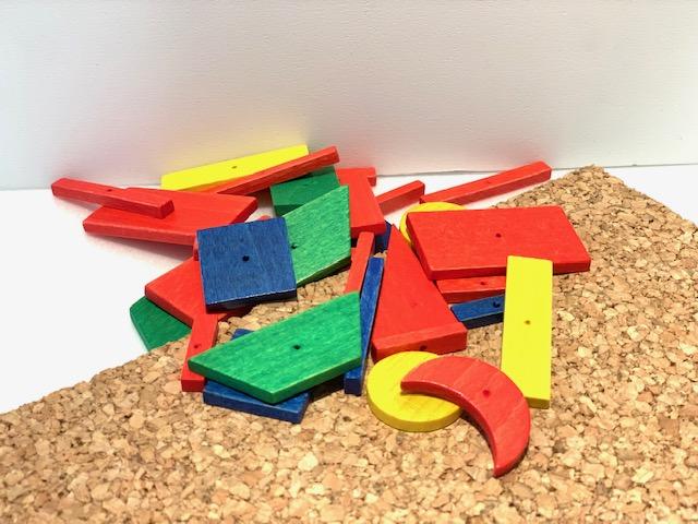 小さな大工さん・お試しセット(木製色板)