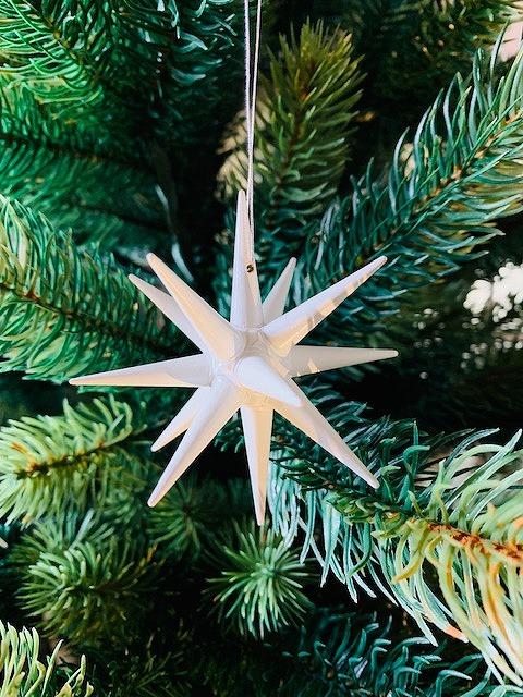 <title>白い星 小 立体星 クリスマスオーナメント 木製 エルツ ザイフェン アルビン 結婚祝い プライスラー クリスマスツリー オーナメント ドイツ</title>