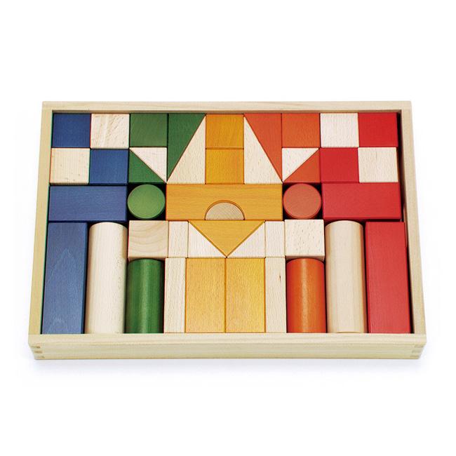 積み木 ボーネルンド・オリジナル積み木カラー ラッピング無料 知育玩具 つみき お祝い 誕生日 プレゼント 2歳 3歳 4歳 5歳