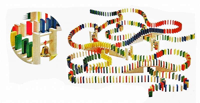 ベルフリッツ社・ドミノレースセット 木のおもちゃ 積み木 Wehrfritz 知育玩具【送料無料】