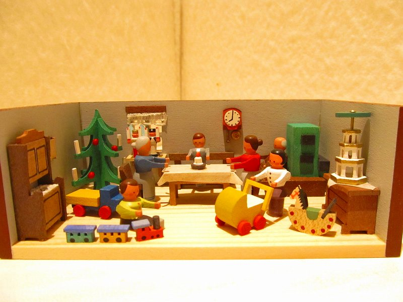 エルツ地方・ミニチュア・小箱シリーズ クリスマスの部屋
