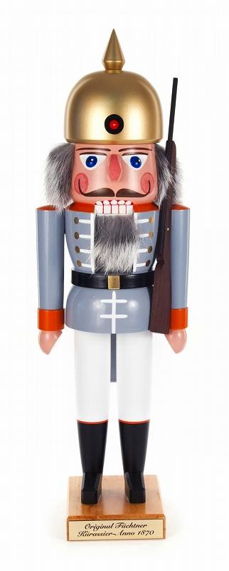 くるみ割り人形・兵隊・グレー・1870年モデル フュヒトナー工房(送料無料)
