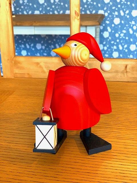 マーティン工房 クリスマスチキンとランタン(大) ドイツ エルツ地方 ザイフェン