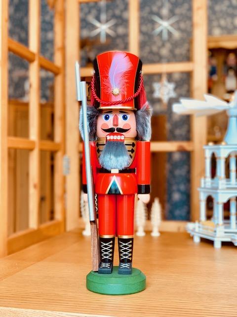 くるみ割り人形(兵隊・赤)38cm レグラー