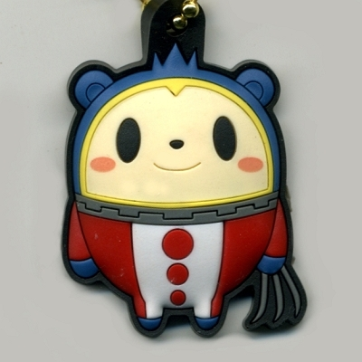 empty persona 4 ultimate rubber key ring collection 2 01 a bear (爪伸)