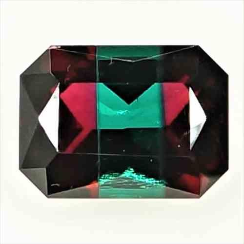 【ルース】【合成宝石】合成 バイカラー レッド ベリル(Bixbite/ビクスバイト) Synthetic Bicolor Red Beryl 6.90ct EM 【ロシア製】【人工宝石】【合成宝石】【送料無料】No,17