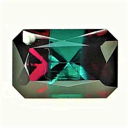 【ルース】【合成宝石】合成 バイカラー レッド ベリル(Bixbite/ビクスバイト) Synthetic Bicolor Red Beryl 5.62ct EM 【ロシア製】【人工宝石】【合成宝石】【送料無料】No,16