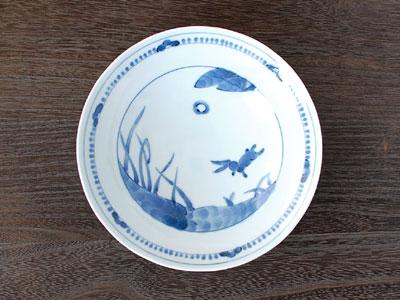 皿 深皿 リム 染付 うさぎ おでん 煮物 藍凛堂 美濃焼 リム60深皿 ストア 日本製 浜うさぎ 岐阜県 食器 瀬戸物 リム型 和食器 人気ショップが最安値挑戦