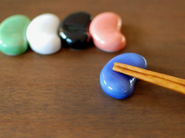 箸置き 超人気 豆 ビーンズ 青 食卓小物 美濃焼 和食器 日本製 器 激安 激安特価 送料無料 和
