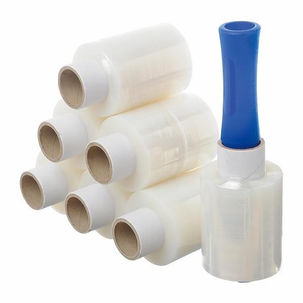 ハンディラップ ミニストレッチフィルム 梱包資材 35%OFF パレットラップ 荷くずれ防止 24本入り 100mm×150m×20μ バインダー付 防塵防滴 実物 ミニラップ