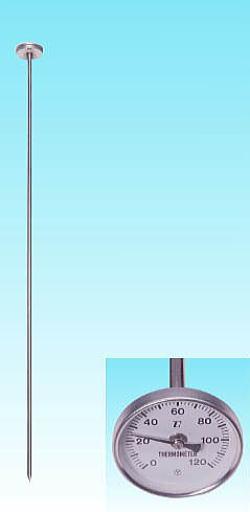 堆肥用温度計 90cm バイメタル式(表示部上向き)【あす楽対応】