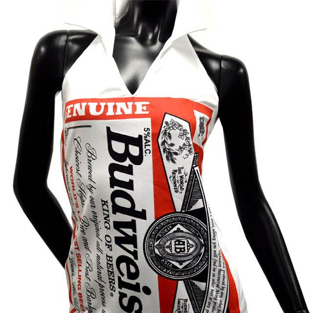 b8d57e239816f Badgirl Budweiser   translation   is-B product  Budweiser collar dress m    L and XL   white  BW-EOP-WHT 10P11Aug14
