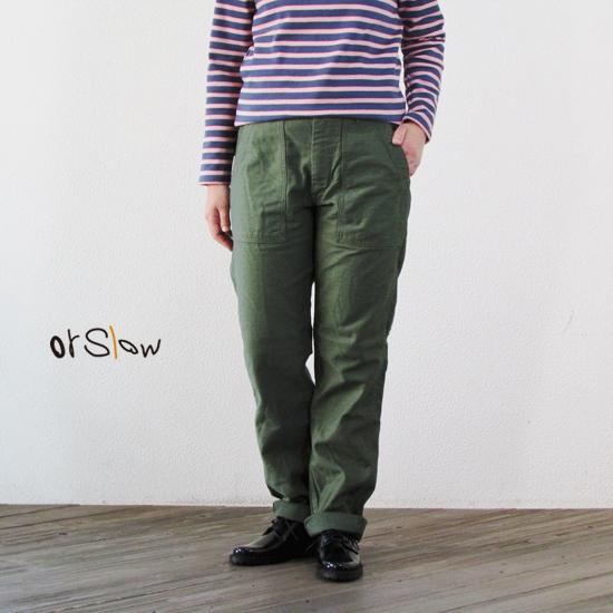 orSlow オアスロウ スリムフィットファティーグパンツ SLIM FIT FATIGUE PANTS 00-5032