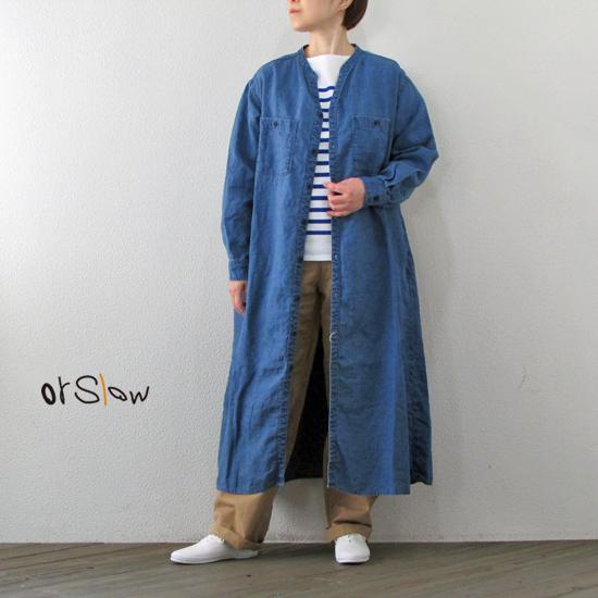 orSlow オアスロウ スタンドカラー ロングシャツ STAND COLLAR LONG SHIRTS 00-9558